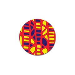 Red, yellow and blue decor Golf Ball Marker (4 pack)