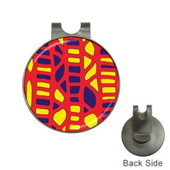Red, yellow and blue decor Hat Clips with Golf Markers