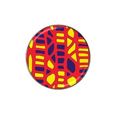 Red, yellow and blue decor Hat Clip Ball Marker (10 pack)