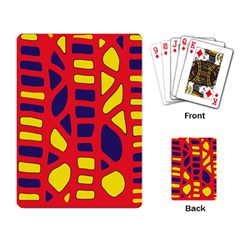 Red, yellow and blue decor Playing Card