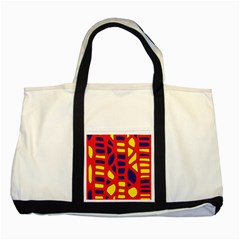 Red, yellow and blue decor Two Tone Tote Bag