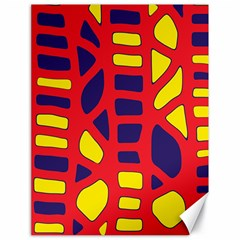 Red, yellow and blue decor Canvas 18  x 24