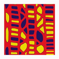 Red, yellow and blue decor Medium Glasses Cloth