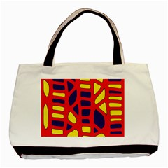 Red, yellow and blue decor Basic Tote Bag (Two Sides)