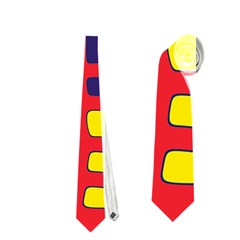 Red, yellow and blue decor Neckties (Two Side)