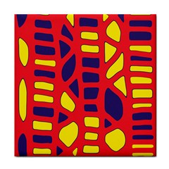 Red, yellow and blue decor Face Towel