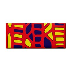Red, Yellow And Blue Decor Hand Towel