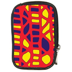 Red, yellow and blue decor Compact Camera Cases