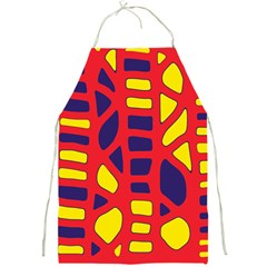Red, yellow and blue decor Full Print Aprons