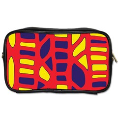Red, yellow and blue decor Toiletries Bags 2-Side