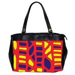 Red, yellow and blue decor Office Handbags (2 Sides)