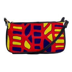 Red, yellow and blue decor Shoulder Clutch Bags