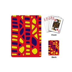 Red, yellow and blue decor Playing Cards (Mini)