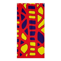 Red, yellow and blue decor Shower Curtain 36  x 72  (Stall)