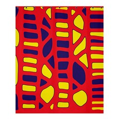 Red, yellow and blue decor Shower Curtain 60  x 72  (Medium)