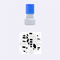 Red, yellow and blue decor Rubber Round Stamps (Small)