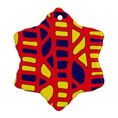 Red, yellow and blue decor Ornament (Snowflake)