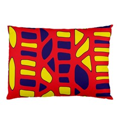 Red, yellow and blue decor Pillow Case (Two Sides)