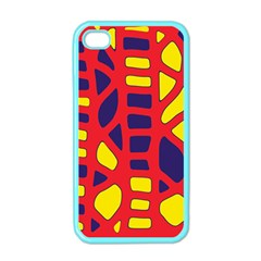 Red, yellow and blue decor Apple iPhone 4 Case (Color)