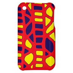 Red, yellow and blue decor Apple iPhone 3G/3GS Hardshell Case