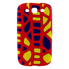 Red, yellow and blue decor Samsung Galaxy S III Hardshell Case