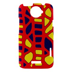 Red, yellow and blue decor HTC One X Hardshell Case
