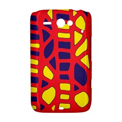 Red, yellow and blue decor HTC ChaCha / HTC Status Hardshell Case