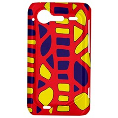 Red, yellow and blue decor HTC Incredible S Hardshell Case