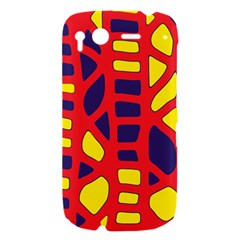 Red, yellow and blue decor HTC Desire S Hardshell Case