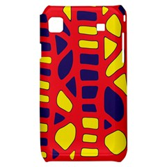 Red, yellow and blue decor Samsung Galaxy S i9000 Hardshell Case