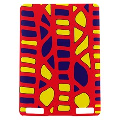 Red, yellow and blue decor Kindle Touch 3G