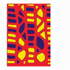 Red, yellow and blue decor Small Garden Flag (Two Sides)