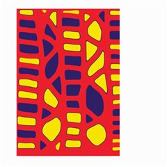 Red, yellow and blue decor Large Garden Flag (Two Sides)