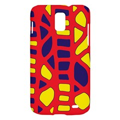 Red, yellow and blue decor Samsung Galaxy S II Skyrocket Hardshell Case