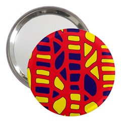 Red, yellow and blue decor 3  Handbag Mirrors