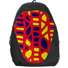 Red, yellow and blue decor Backpack Bag