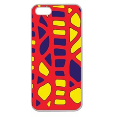 Red, yellow and blue decor Apple Seamless iPhone 5 Case (Clear)