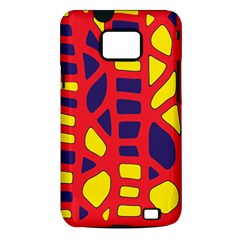 Red, yellow and blue decor Samsung Galaxy S II i9100 Hardshell Case (PC+Silicone)