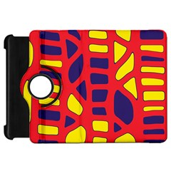 Red, yellow and blue decor Kindle Fire HD Flip 360 Case