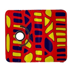 Red, yellow and blue decor Samsung Galaxy S  III Flip 360 Case
