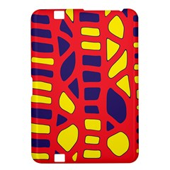 Red, yellow and blue decor Kindle Fire HD 8.9