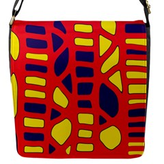 Red, yellow and blue decor Flap Messenger Bag (S)