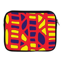 Red, yellow and blue decor Apple iPad 2/3/4 Zipper Cases