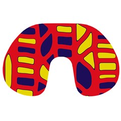 Red, yellow and blue decor Travel Neck Pillows