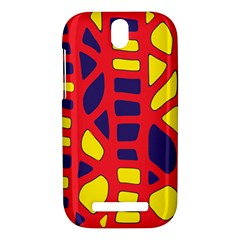Red, yellow and blue decor HTC One SV Hardshell Case