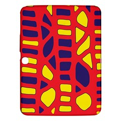 Red, yellow and blue decor Samsung Galaxy Tab 3 (10.1 ) P5200 Hardshell Case