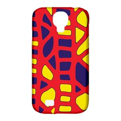 Red, yellow and blue decor Samsung Galaxy S4 Classic Hardshell Case (PC+Silicone)