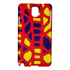 Red, yellow and blue decor Samsung Galaxy Note 3 N9005 Hardshell Case