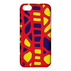 Red, yellow and blue decor Apple iPhone 5C Hardshell Case