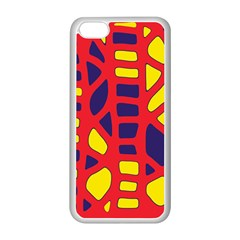 Red, yellow and blue decor Apple iPhone 5C Seamless Case (White)